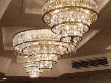 特注大型チェコ製シーリングシャンデリア照明「EBL-V3057」